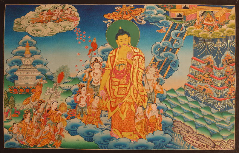 Buddha's Descent from Tushita Heaven