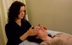 Deborah and Client - Reiki Session